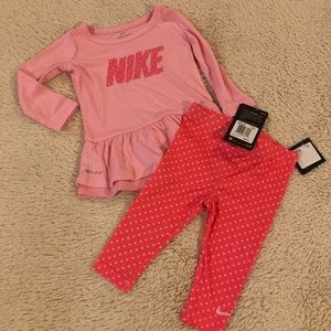 Nike Matching Sets - Nike Girl's 2 Piece Outfit Size 12 M Pink NWT